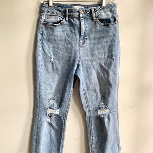 Judy Blue Distressed Jeans Light Wash Skinny 28